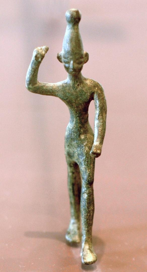 Бронзовая статуэтка хананейского бога Ваала. XIV-XII вв. до н.э.