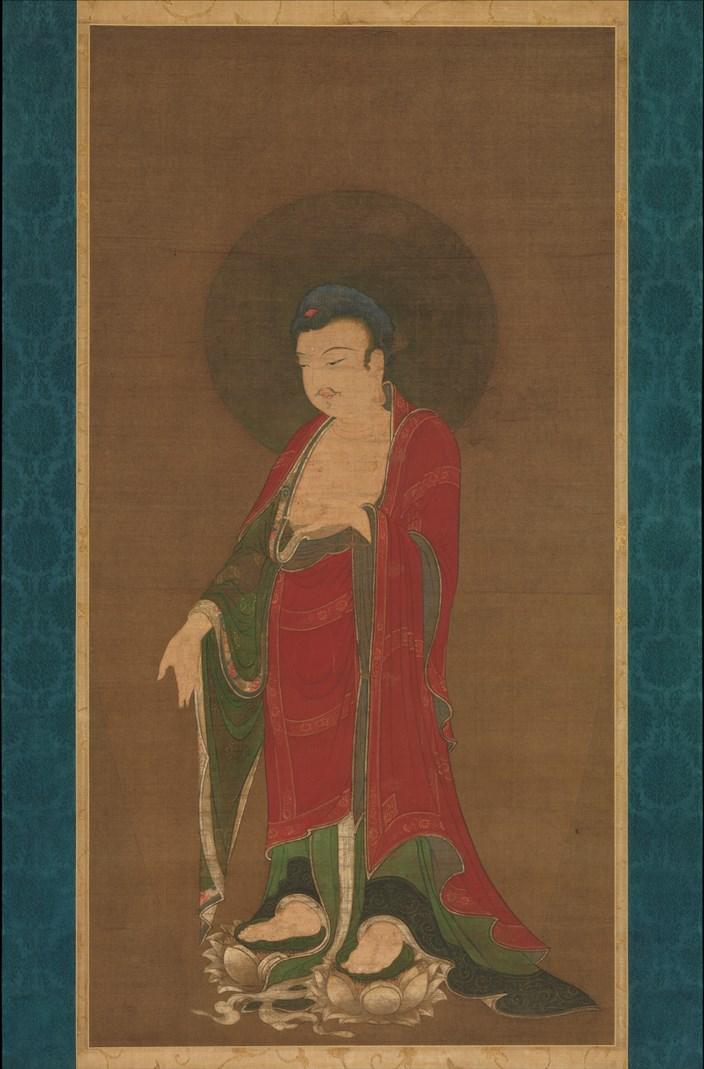 Будда Амитабха спускается с чистой земли. Китай, конец XIII в.