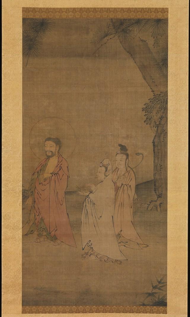Будда Шакьямуни в окружении бодхисаттв. Китай, XIII–XIV вв.