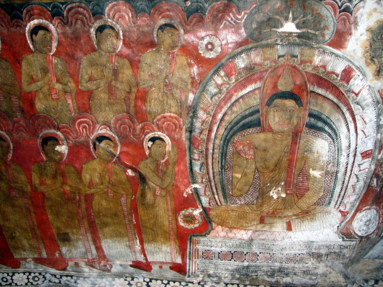 Будда и члены сангхи. XVIII в.