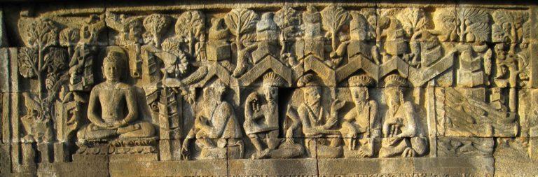 Будда и пять аскетов. VII—IX вв.