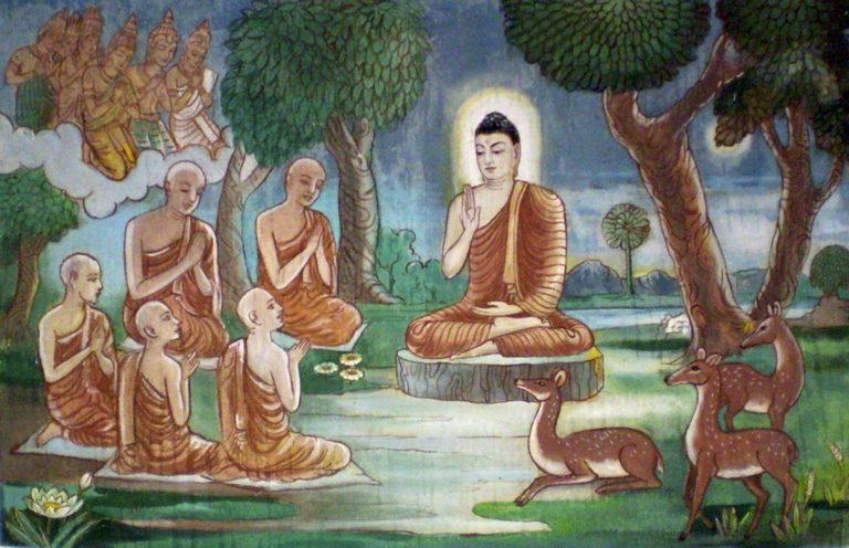 Будда и пять учеников
