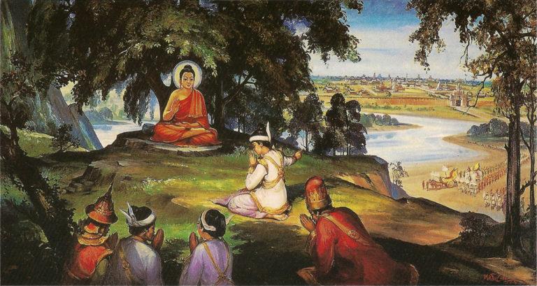 Будда и царь Бимбасара
