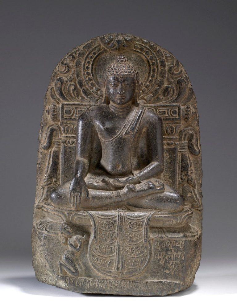 Будда под деревом Бодхи и его последователь. Индия, X–XI вв.