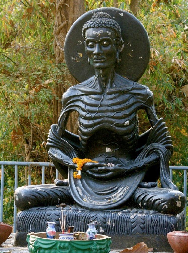 Будда практикует аскезу