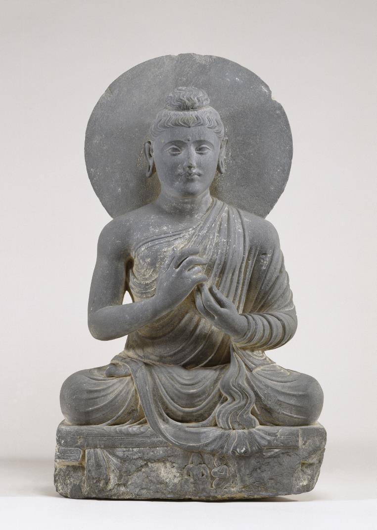 Будда проповедует дхарму. Гандхара, II–III вв.