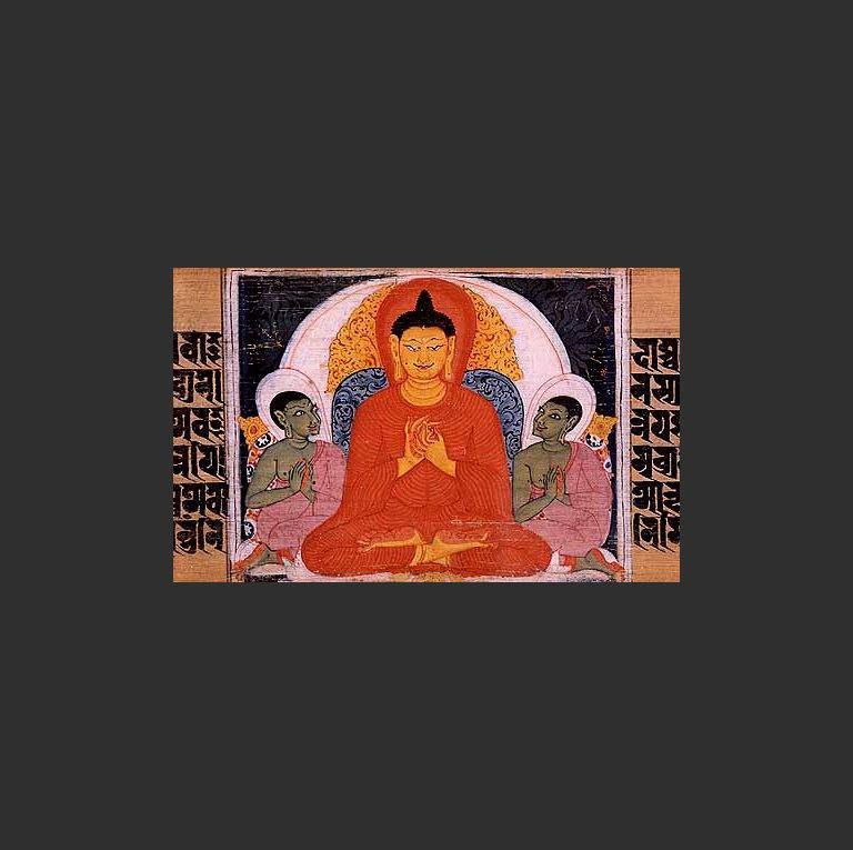 Будда проповедует учение о четырёх благородных истинах