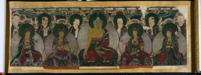 Будда с учениками. 1846. Корея