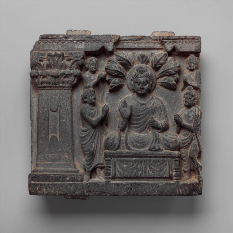 Будда с учениками. Пакистан, II–III вв.