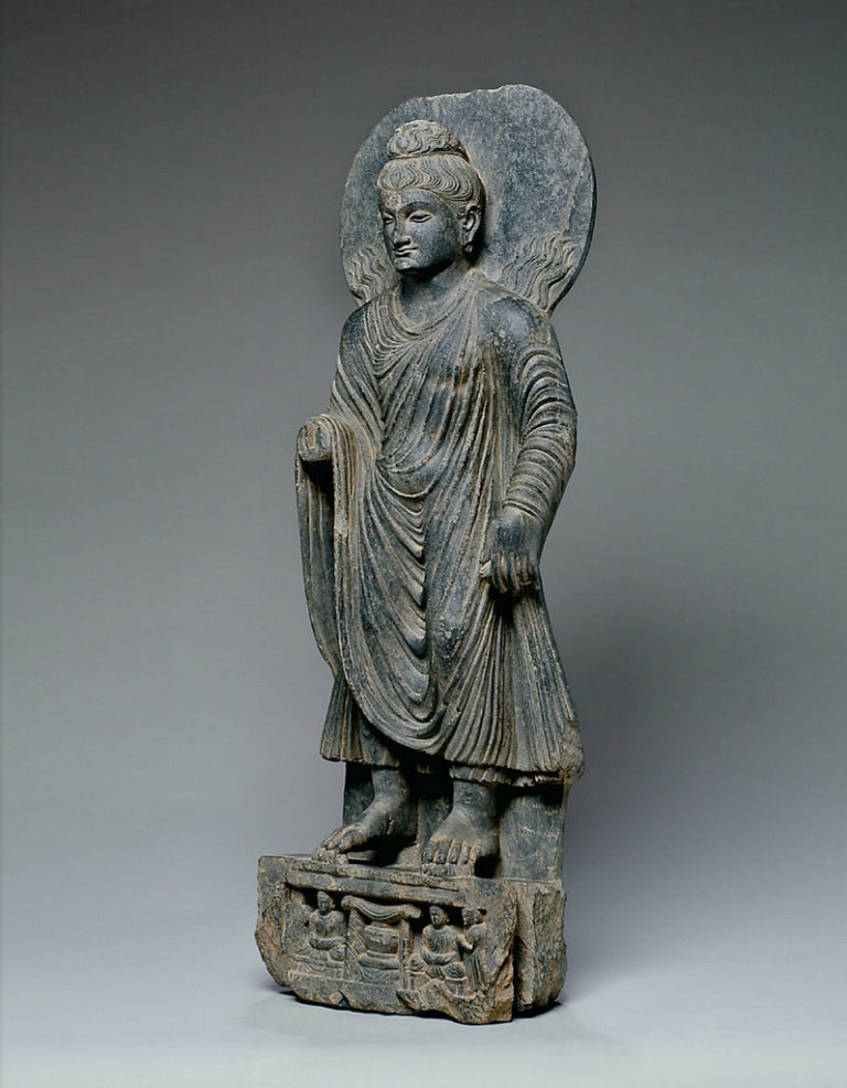 Будда, совершающий чудо в Шравасти. Гандхара, II–III вв.