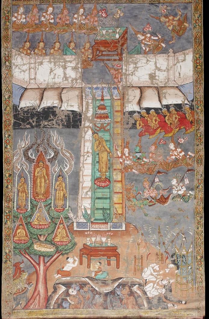 Будда спускается с небес. Таиланд, 1885