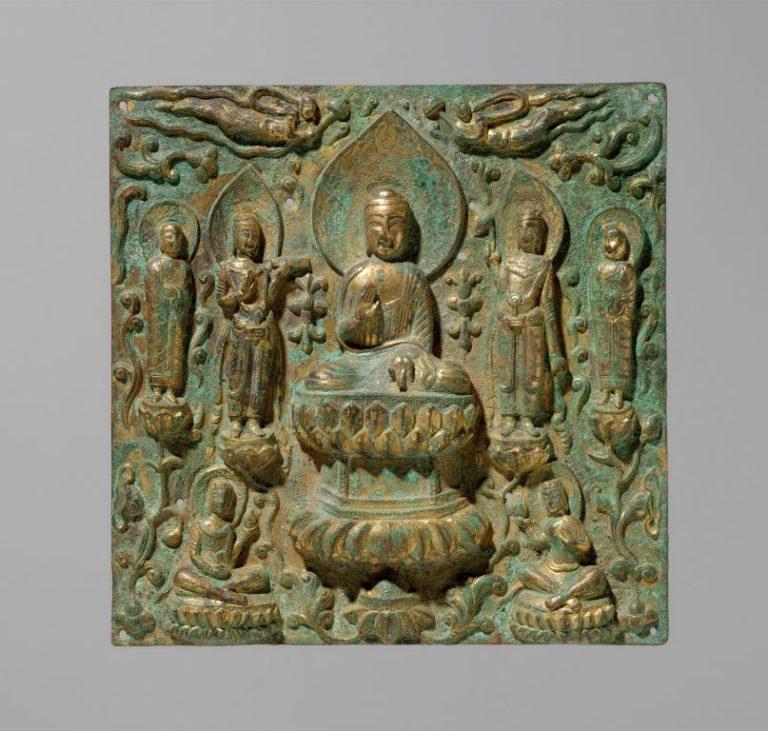 Будда в окружении бодхисаттв и монахов. Китай, VI–VII вв.