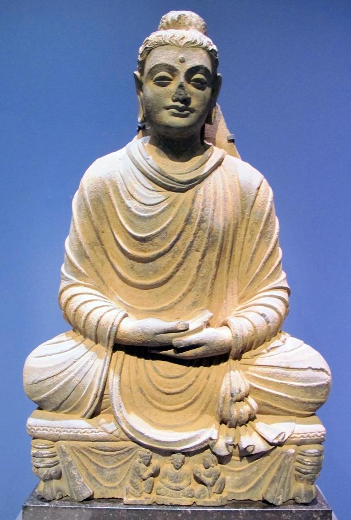 Будда в позе медитации. Гандхара, I–IV вв.