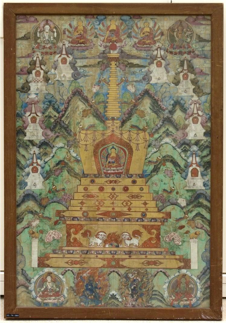 Будда внутри ступы. XVI–XVII вв. Тибет