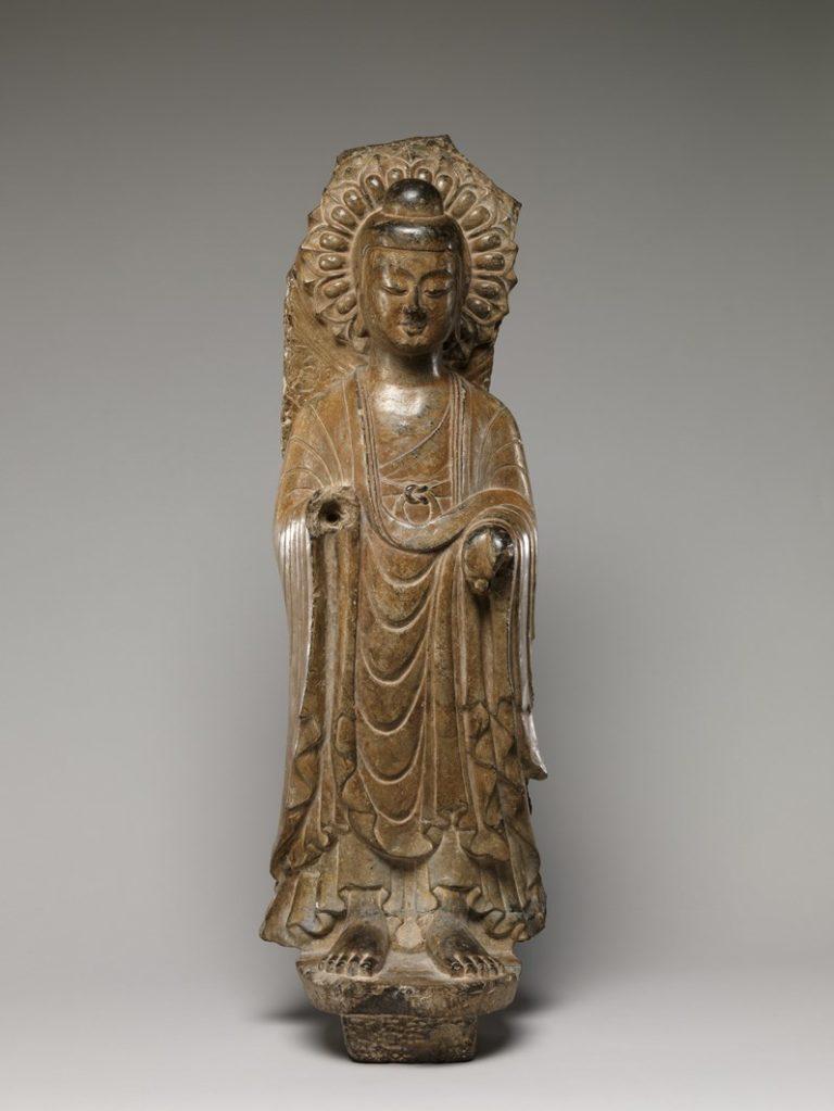 Будда. Фрагмент стелы. Индия, VI в.