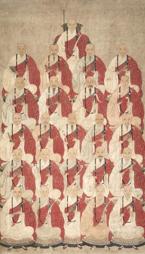 Буддийские монахи секты Обаку. XVII в.