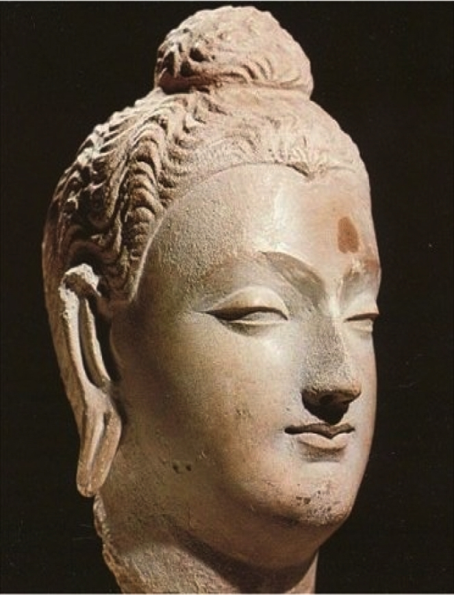 Бюст Ашоки, сделанный в буддийских традициях