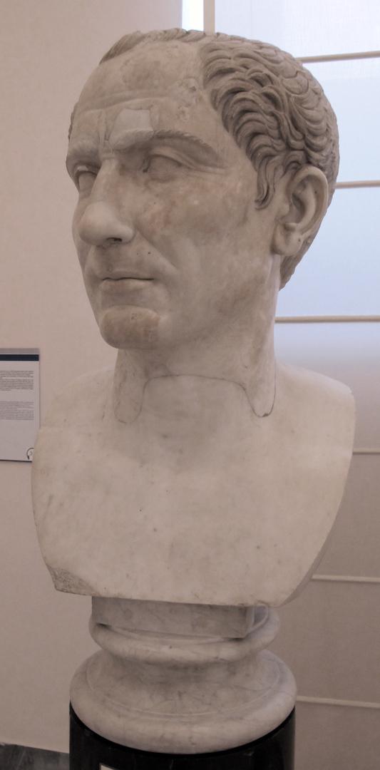 Бюст Гая Юлия Цезаря (100–44 гг. до н. э.). Начало II в. н.э.