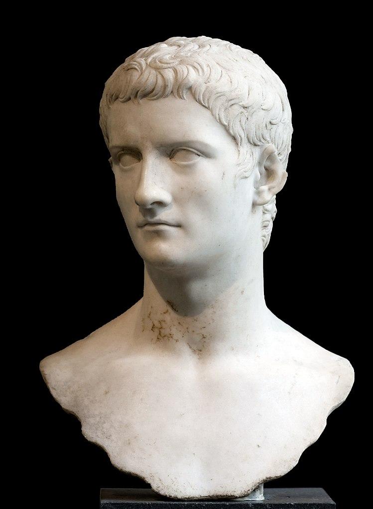Бюст Калигулы (12–41 гг. н.э.). 37–41 вв. н.э.