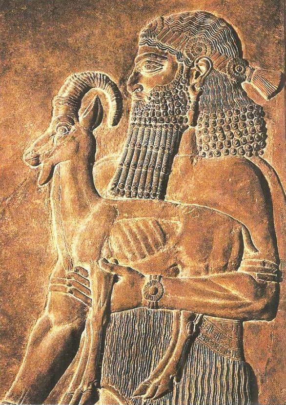 Человек с козленком. Конец VIII в. до н.э.