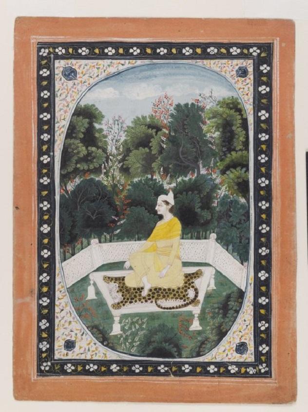 Человек, медитирующий в саду. Ок. 1840