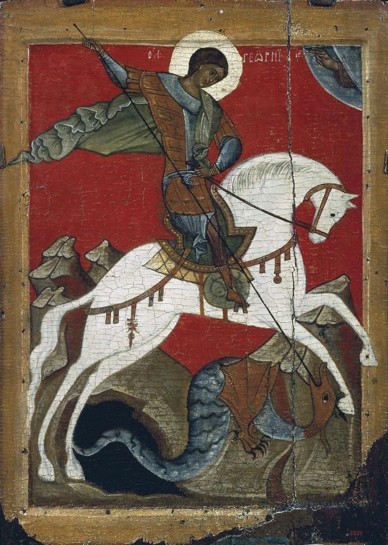 Чудо Георгия о змии. Нач. XV в.