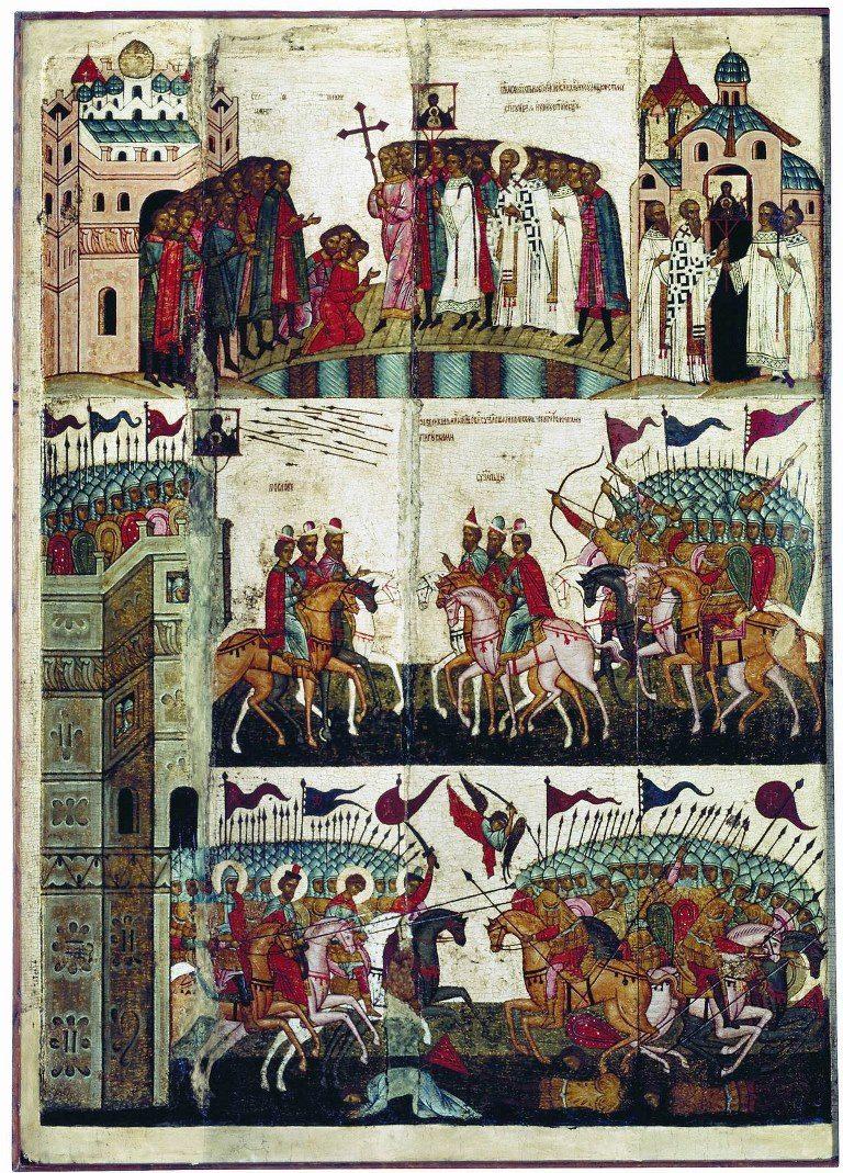 Чудо от иконы Знамение. XV в.