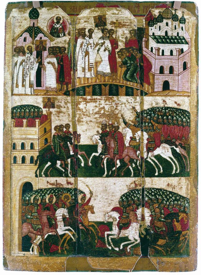 Чудо от иконы Знамение. XVI в.