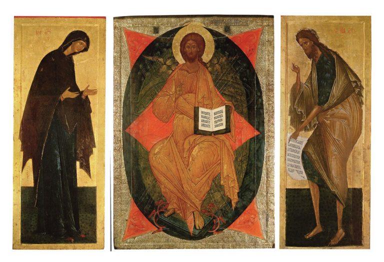 Деисусный чин Успенского собора Кирилло-Белозерского монастыря. 1497