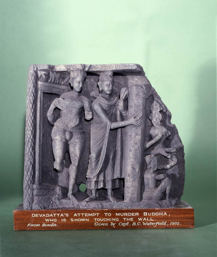 Девадатта пытается убить Будду. II–III вв.