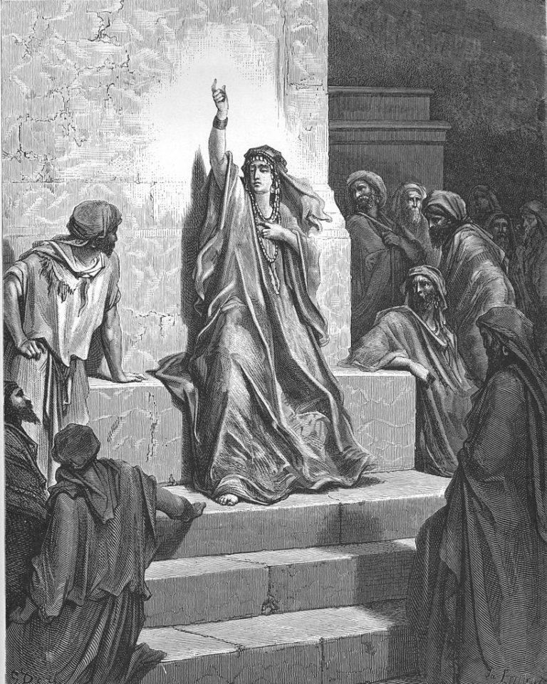 Девора воспевает поражение Сисары (Суд. 5.1-3, 24-31). 1865