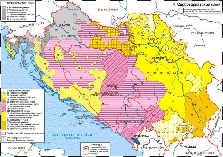 Диалекты сербо-хорватского языка
