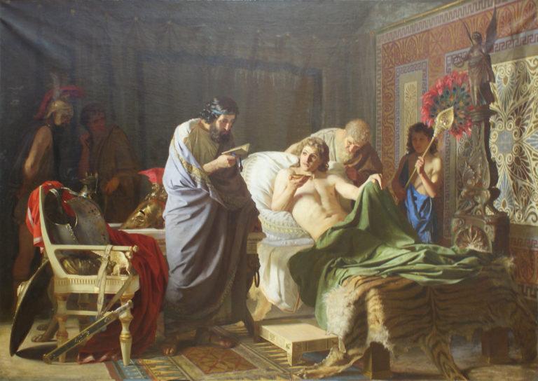 Доверие Александра Македонского к врачу Филиппу. 1870