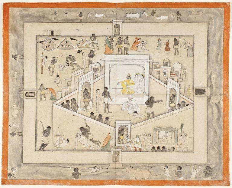 Двор Ямы, бога смерти. Ок. 1800 г.