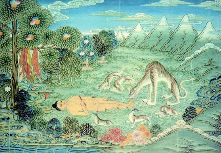 Джатака о тигрице. 1880–1899