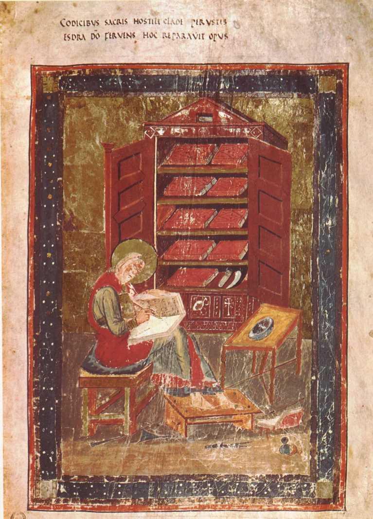 Ездра в образе монаха-переписчика. Начало VIII в.
