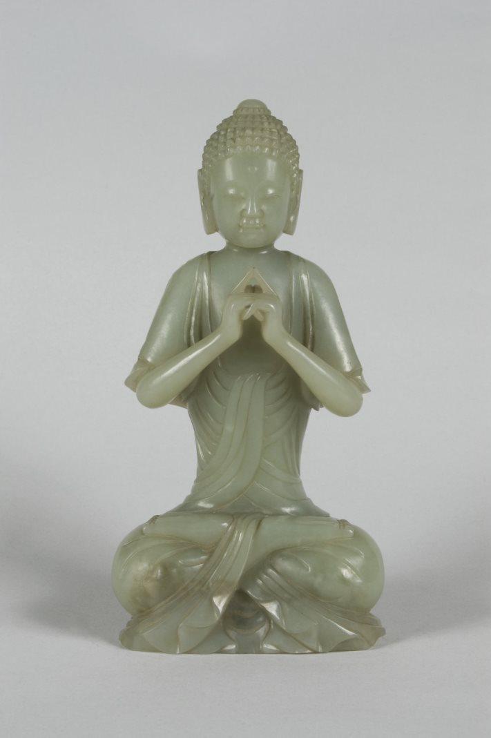 Фигура сидящего буддиста. Китай, 1736–1796