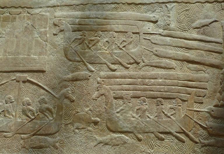 Финикийские мореплаватели у побережья Ливана. VIII в. до н.э.