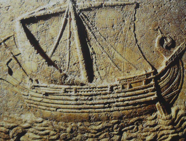 Финикийский корабль. II в. до н.э.