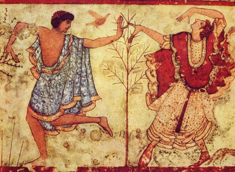 Фрагмент фрески гробницы Триклиния. Около 470 г. до н.э.