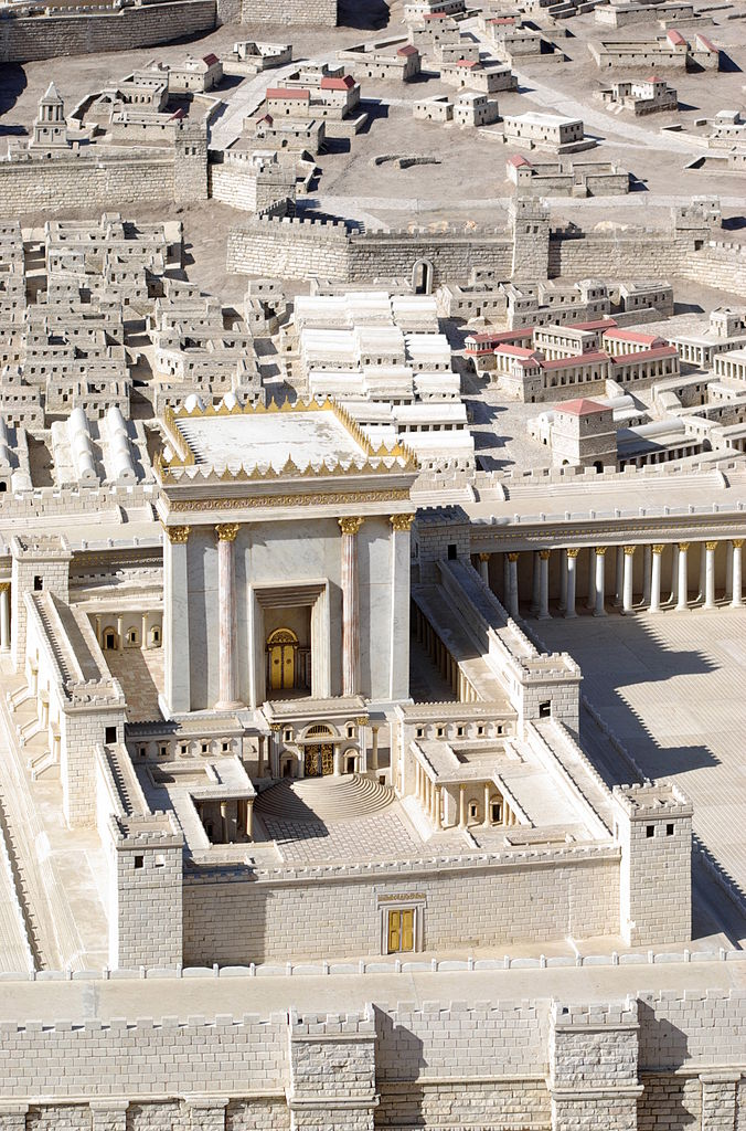 Фрагмент макета-реконструкции Иерусалимского храма (516 г. до н.э. – 70 г. н.э.) в эпоху Ирода Великого (74-73 г. до н.э. – 4 г. до н.э.)