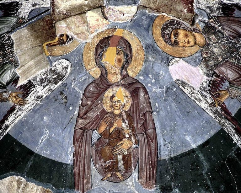 Фрески апсиды Монастыря Сиони в селе Атени (Атенский Сион). XII в.
