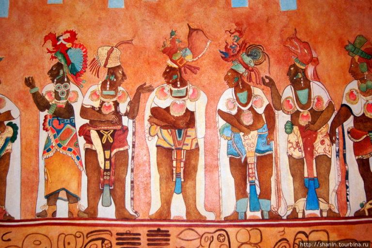 Фрески из музея культуры Майя