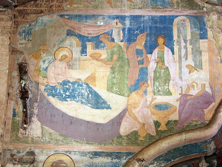 Фрески портала собора Рождества Богородицы. 1502