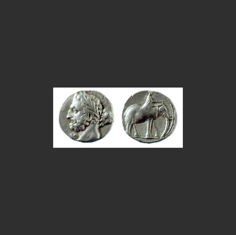 Гамилькар Барка (Молния; ум. в 228 г. до н.э.) в образе Геракла-Мелькарта. 237-227 гг. до н.э.