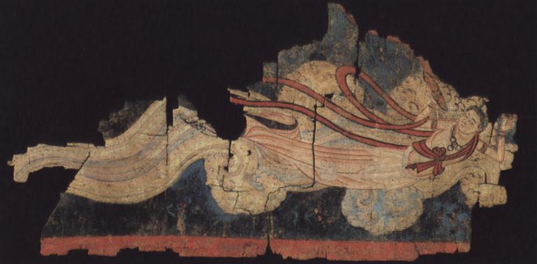 Гандхарва, осыпающая цветами. VIII в.