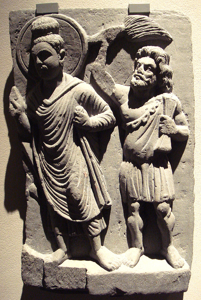 Гаутама Будда и его защитник Ваджрапани. II в.