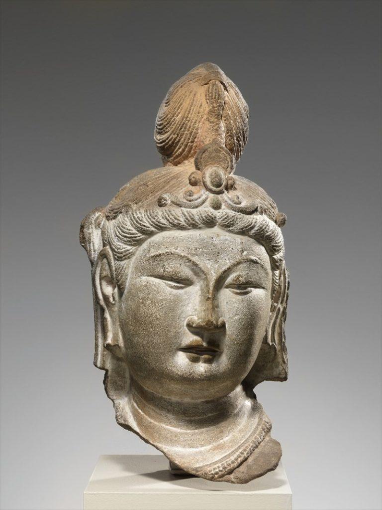 Голова бодхисаттвы. Китай, 710 г.