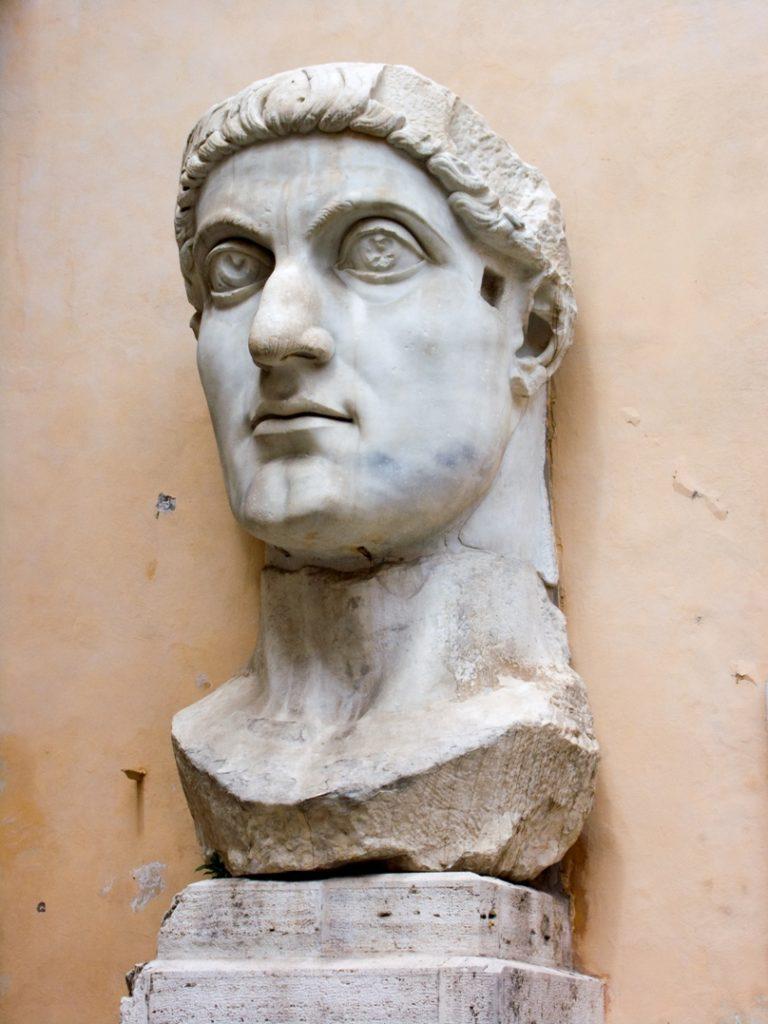 Голова императора Константина. 312—315, или ок. 325 г.