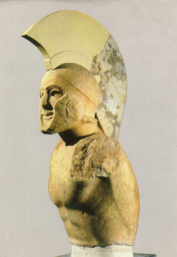 Гоплит в шлеме. V в. до н.э.